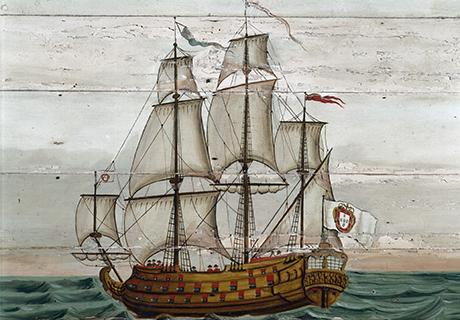 Em Sintra, D. Manuel I recebe a notícia da descoberta do caminho marítimo para a Índia.