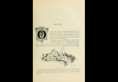 """O Conde de Sabugosa escreve O Paço de Cintra, primeiro """"roteiro"""" do Palácio, ilustrado com desenhos da rainha D. Amélia."""