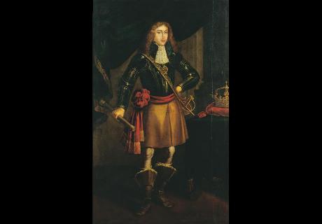 Morte de D. Afonso VI, ficando em câmara ardente na Sala das Pegas.