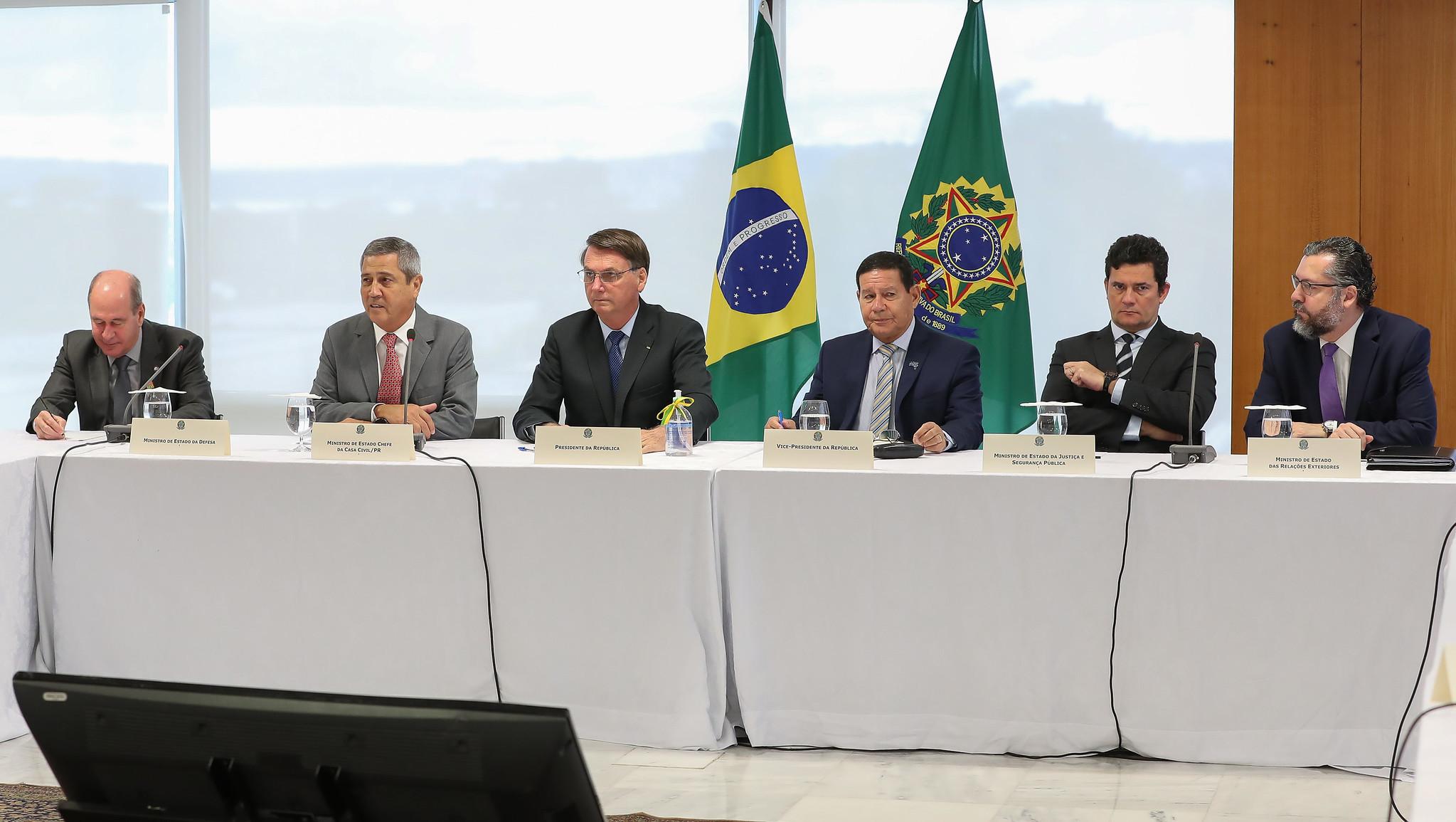 Principais frases do presidente Jair Bolsonaro durante reunião ministerial que teve gravação divulgada pelo STF, em 22/05/2020
