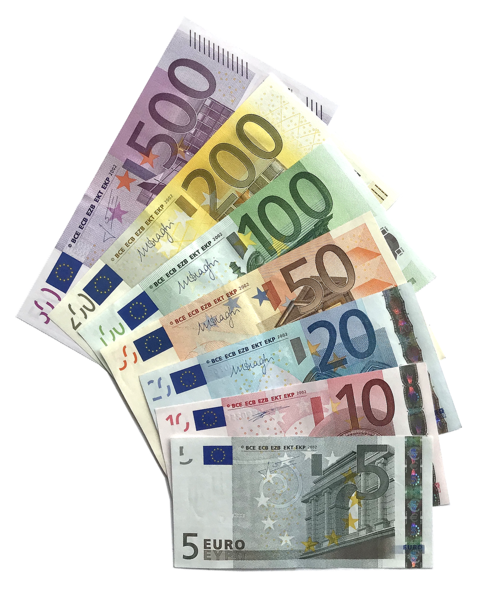 Euro coins and banknotes are adopted