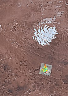 Scientists report the presence of a subglacial lake on Mars, 1.5 km (0.93 mi) below the southern polar ice cap and extending sideways about 20 km (12 mi), the first known body of water on the planet.
