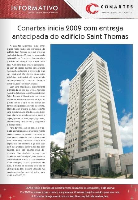 Conartes inicia 2009 com entrega antecipada do Ed Saint Thomas