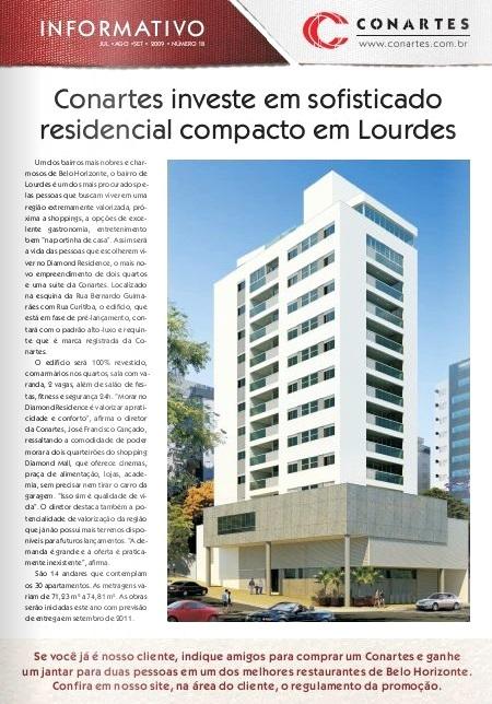 Conartes investe em sofisticado residencial compacto em Lourdes