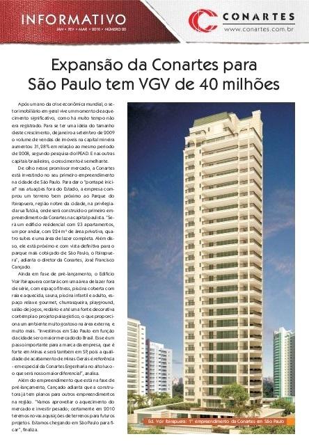 Expansão da Conartes para São Paulo tem VGV de 40 milhões