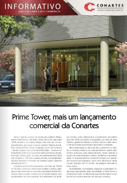Prime Tower, mais um lançamento comercial da Conartes