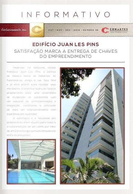 Ed Juan Les Pins. Satisfação marca a entrega das chaves do empreendimento