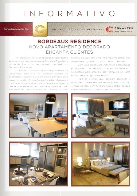 Bordeaux Residence. Novo apartamento decorado encanta clientes