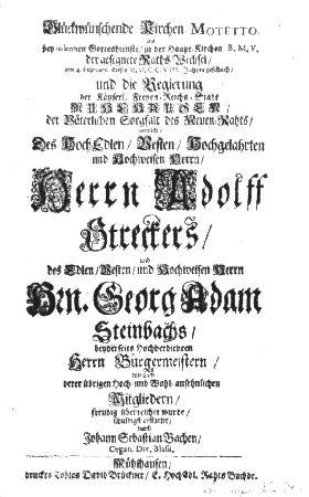 71 BWV - Gott ist mein König