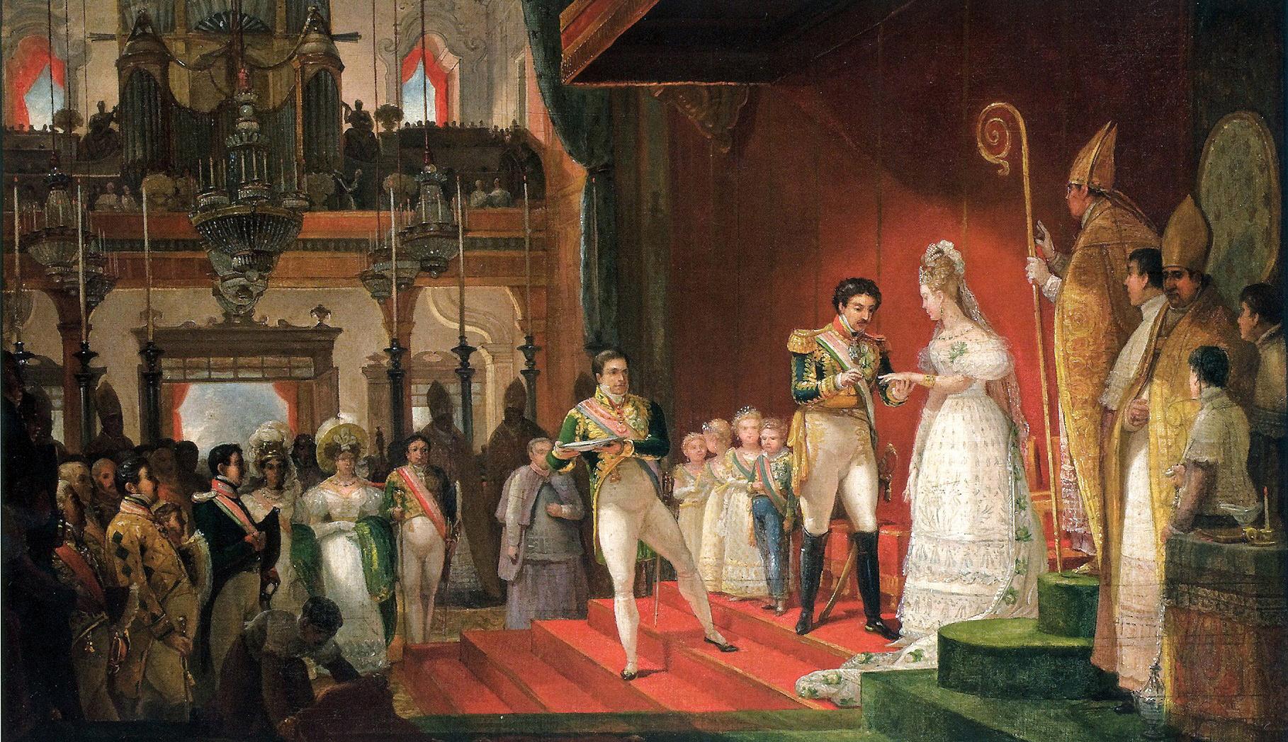 Casamento de D. Pedro I, Imperador do Brasil, com D. Amélia de Leucthenberg