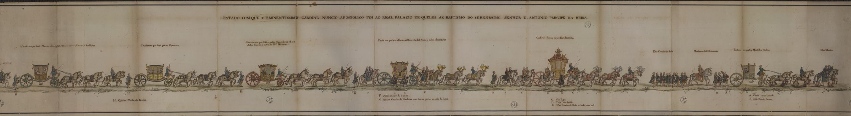 A Família Real passou a viver em permanência no  Real Paço de Queluz