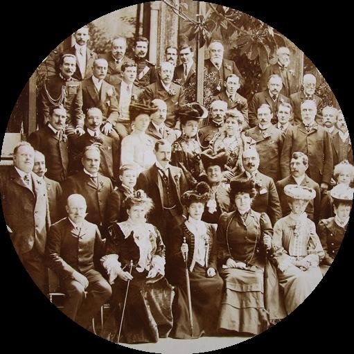 Alexandra do Reino Unido, Guilherme II da Alemanha e Émile Loubet