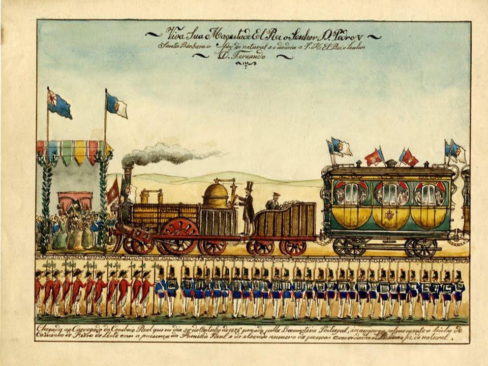 Inauguração dos Caminhos de Ferro