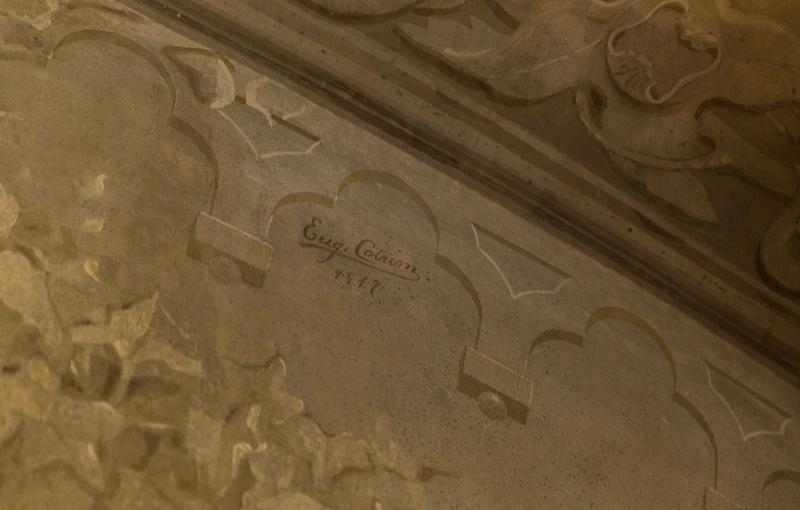 Eugénio Cotrim realiza pinturas murais no Palácio