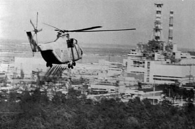 Helikopters boven de kern