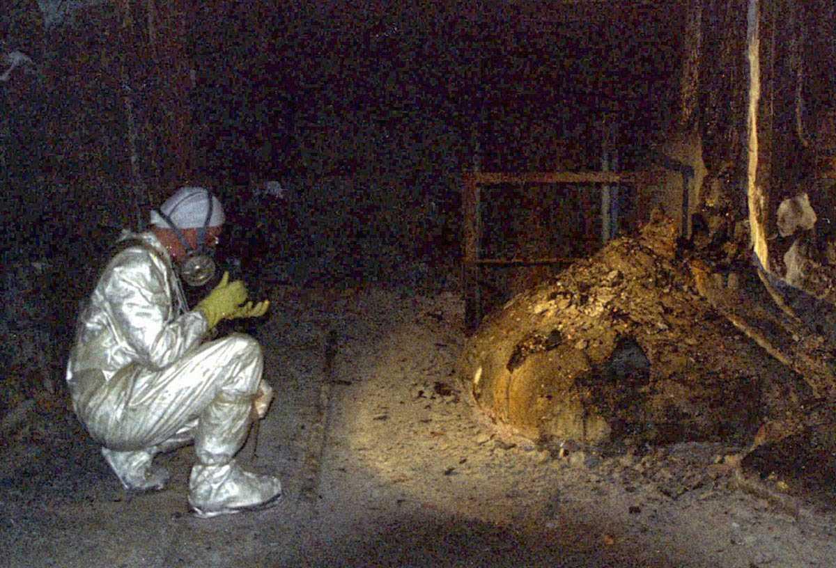 De kelder van reactor 4
