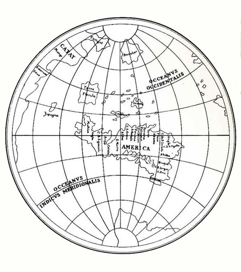 Leonardo's world map