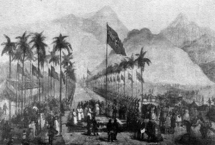 Inaugurada a primeira ferrovia do Brasil