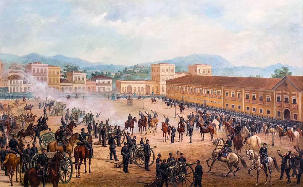 Deodoro da Fonseca proclama a República do Brasil