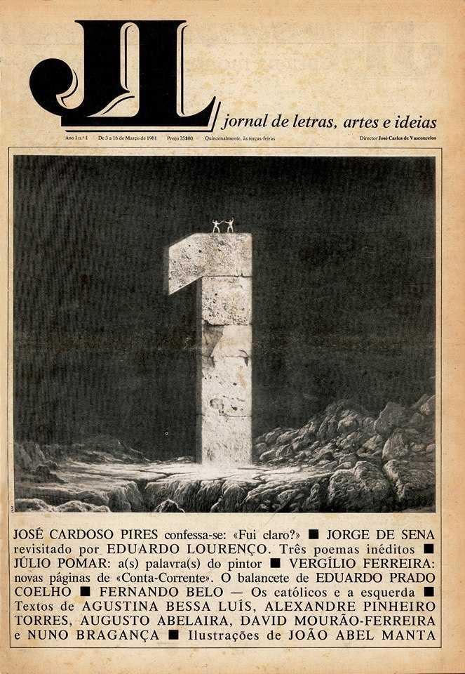 O Jornal de Letras, Artes e Ideias chega as bancas