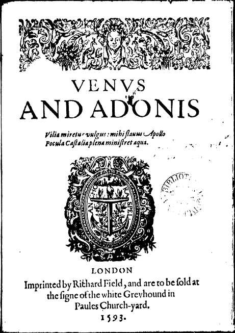 Venus and Adonis (Shakespeare poem)