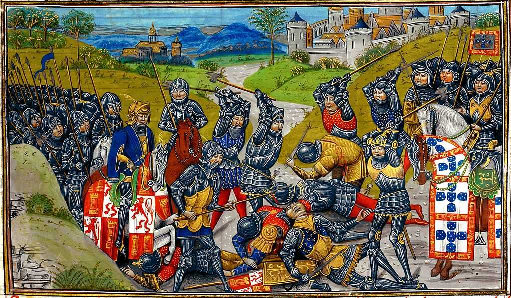 A Batalha de Aljubarrota, vitória decisiva de Portugal;