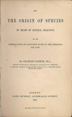 Livro de Darwin, A Origem das Espécies, é publicado em Londres