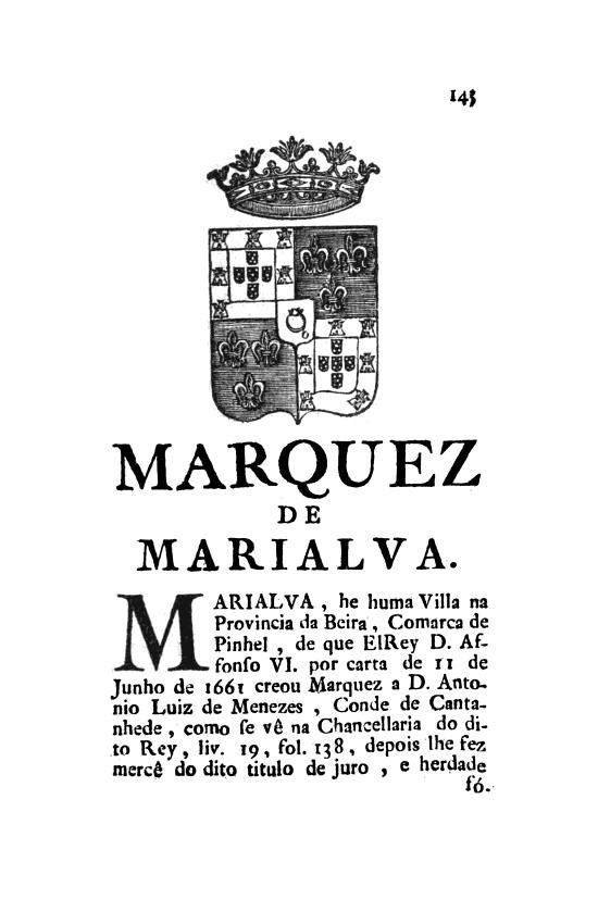 Nasce o título de Marquês de Marialva