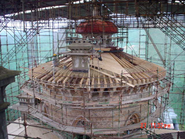 Completion of the first stage of the restoration works