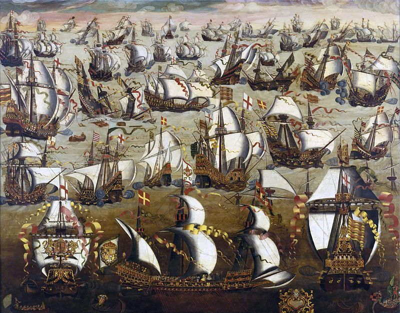 Defeat of the Invincible Armada by the English