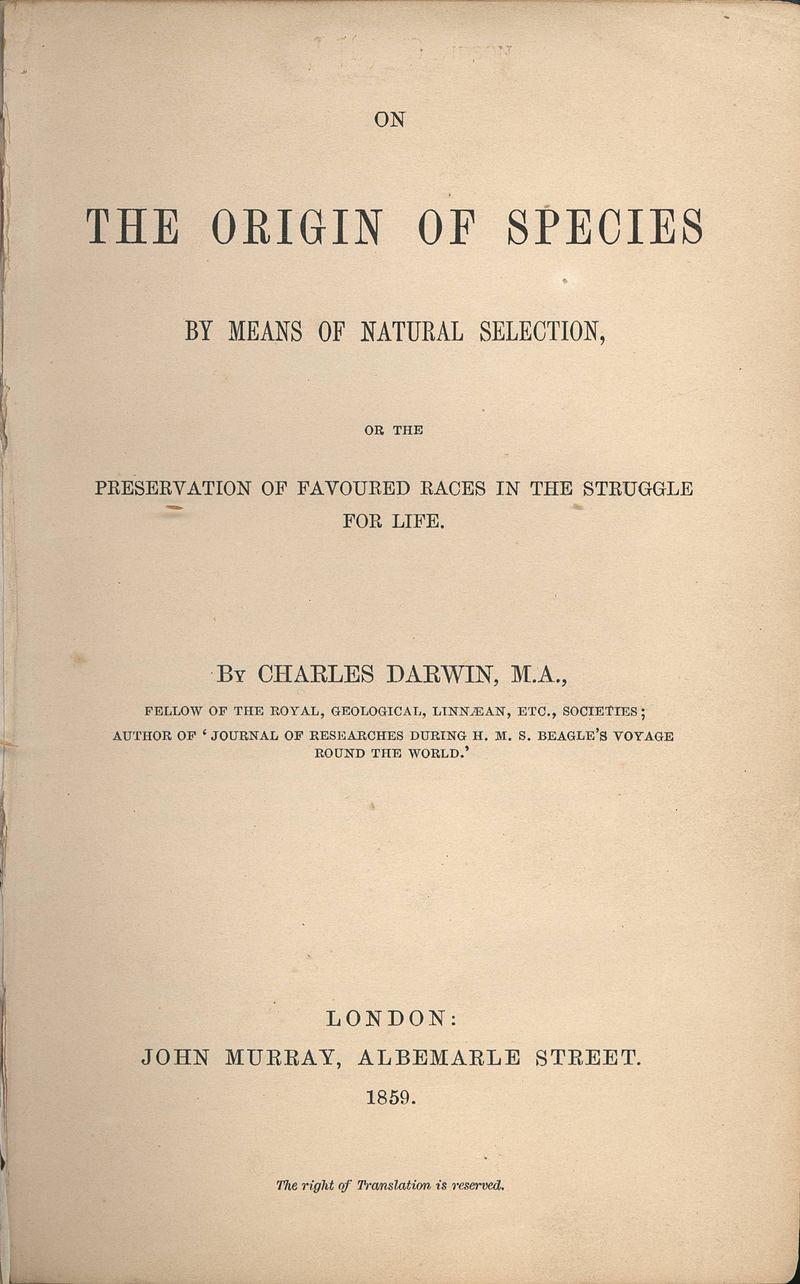 Darwin - On the Origin of Species