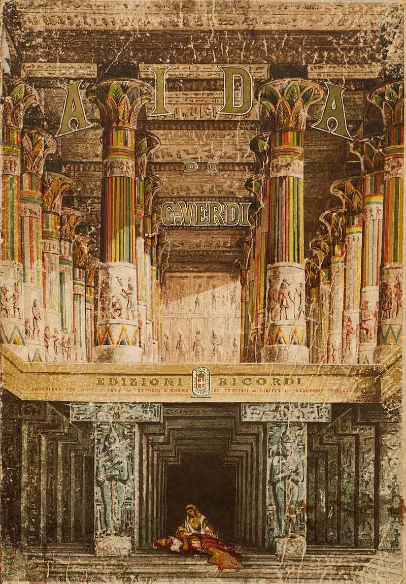 Verdi's opera Aida is staged in Cairo