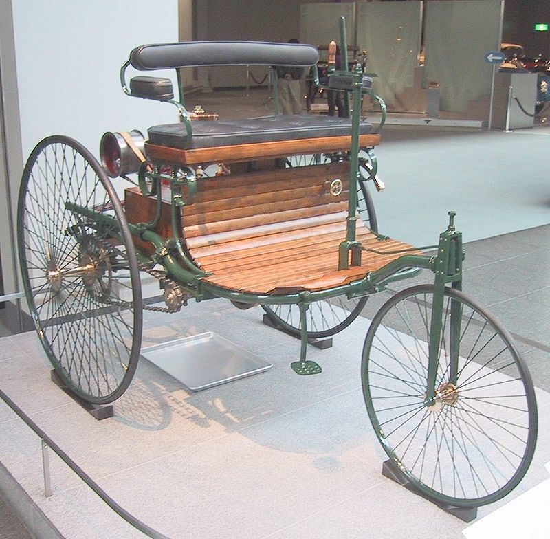 Karl Benz invents the first petrol-powered vehicle