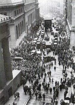Black Thursday on Wall Street