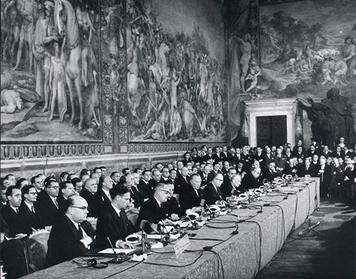Signing of the Treaty of Rome - creation of the EEC