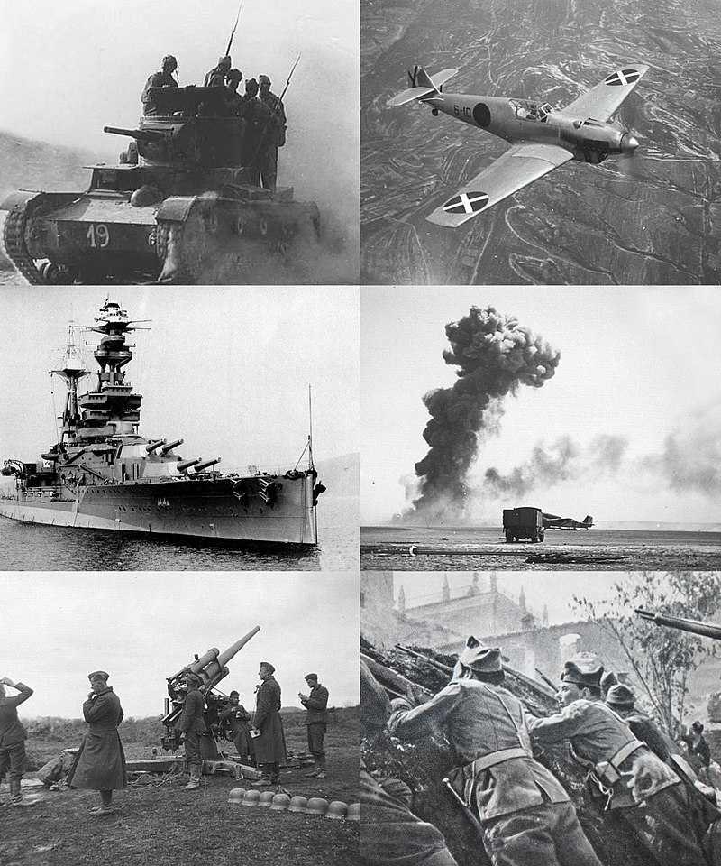 Start of the Spanish Civil War