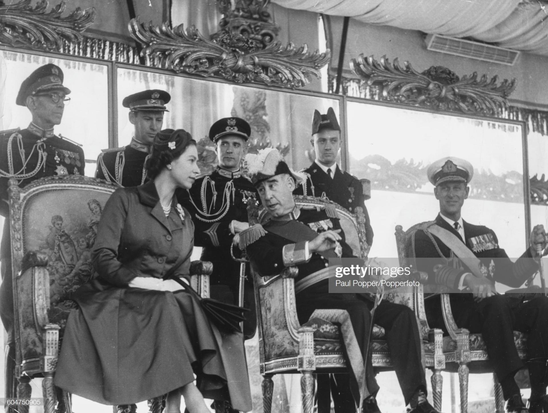 Queen Elizabeth II of England visits Portugal
