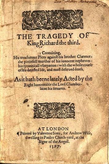 Shakespeare escreve Ricardo III