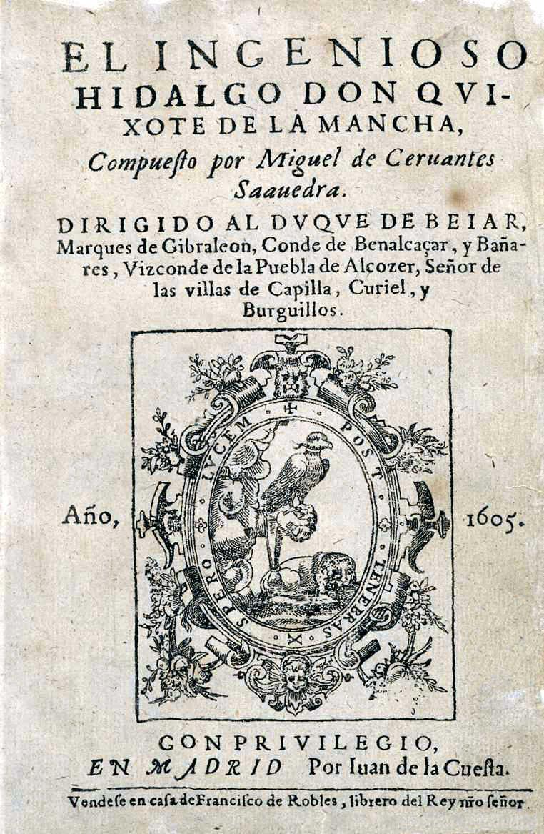 Cervantes escreve Don Quixote