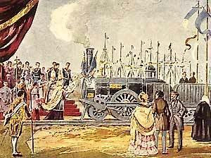 Inauguração da linha de caminho-de-ferro entre Lisboa e o Carregado