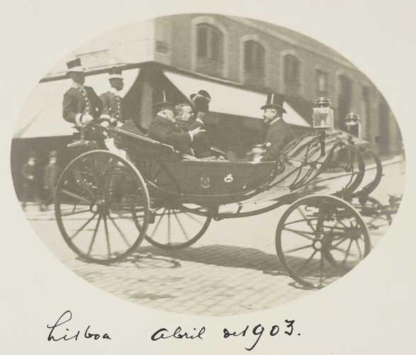 Rei Eduardo VII da Inglaterra visita Portugal