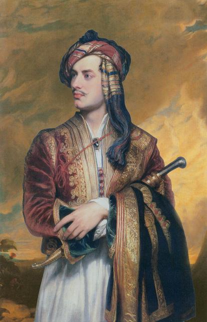 Lord Byron visita a quinta e lamenta o seu estado de abandono