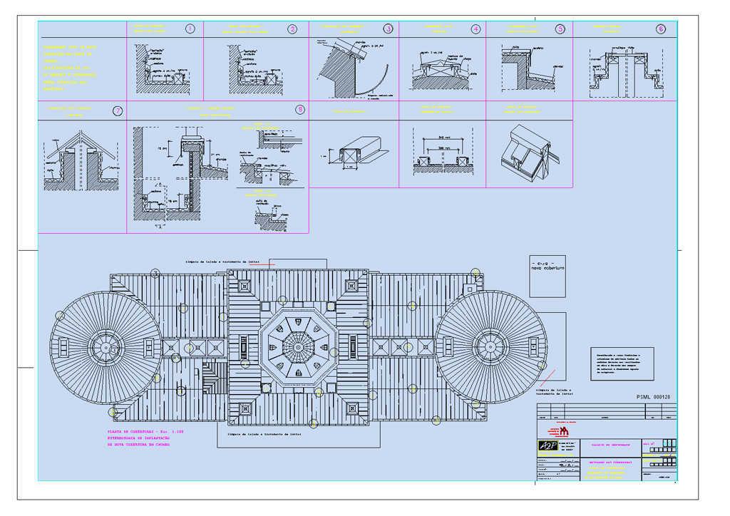 Conclusão do projecto de restauro das coberturas