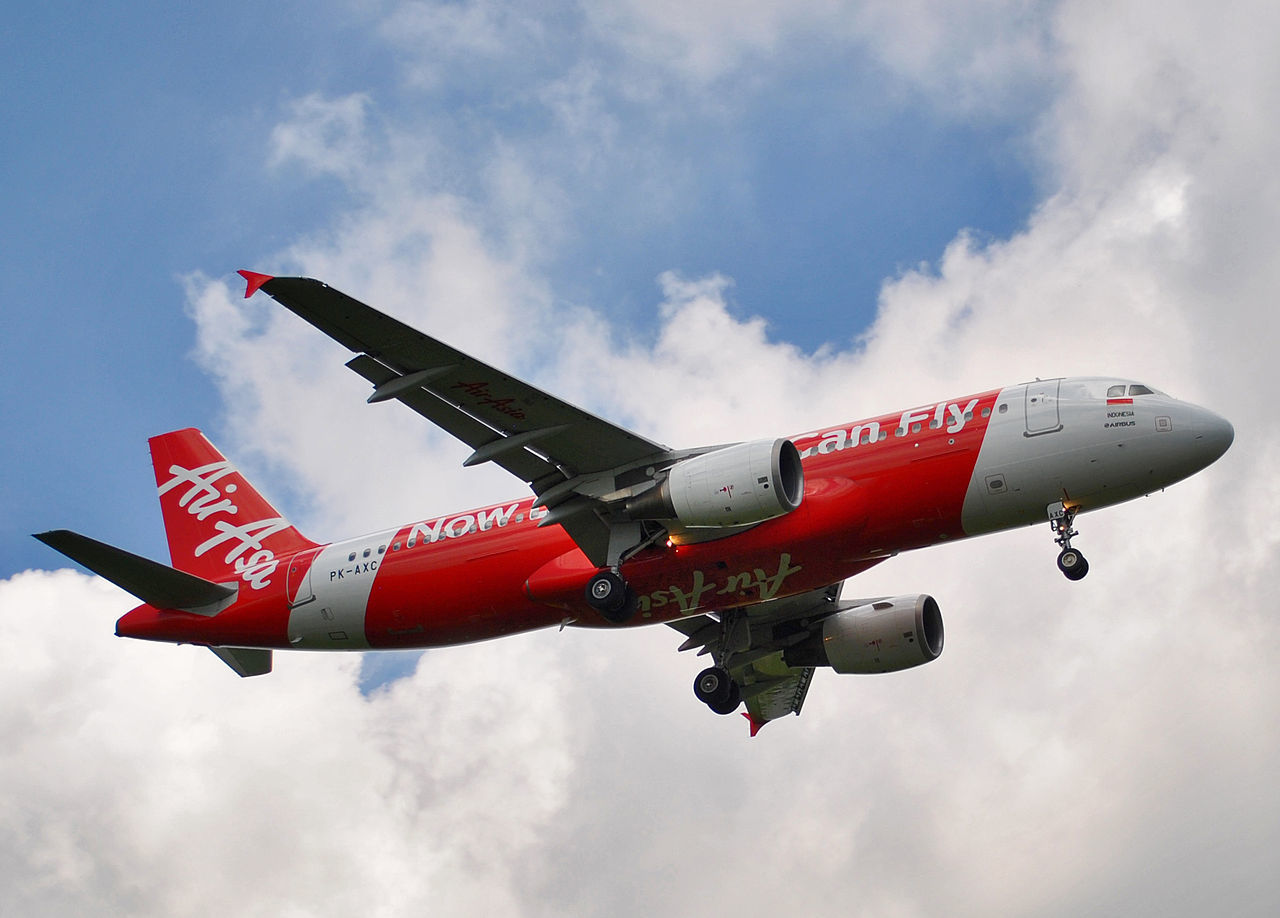 Indonesia AirAsia Flight 8501 from Surabaya, Indonesia to Singapore crashes into the Java Sea just southwest of Borneo, killing all 162 people on board