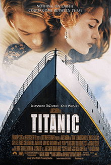 Titanic becomes the first film to gross US$1 billion.