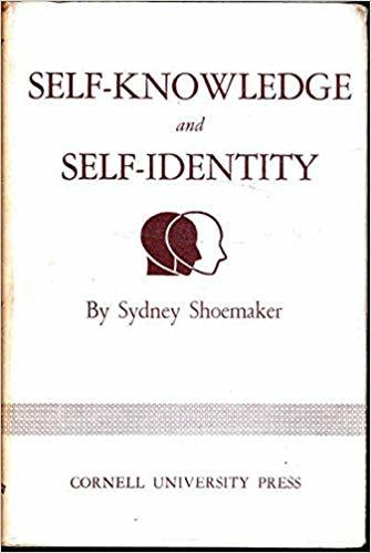 Self-Knowledge and Self-Identity, by Sidney Shoemaker