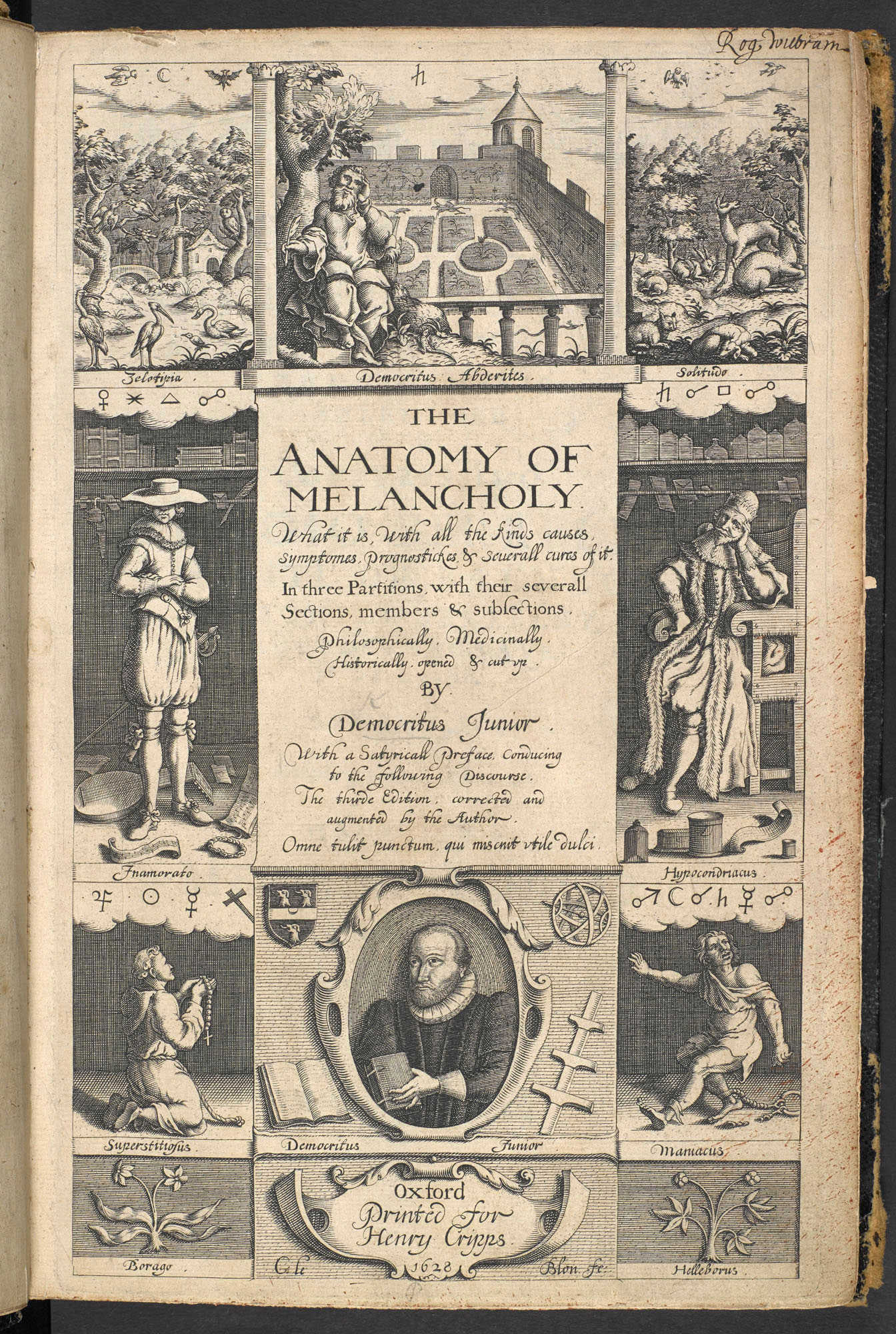 Anatomy of Melancholy, by Robert Burton
