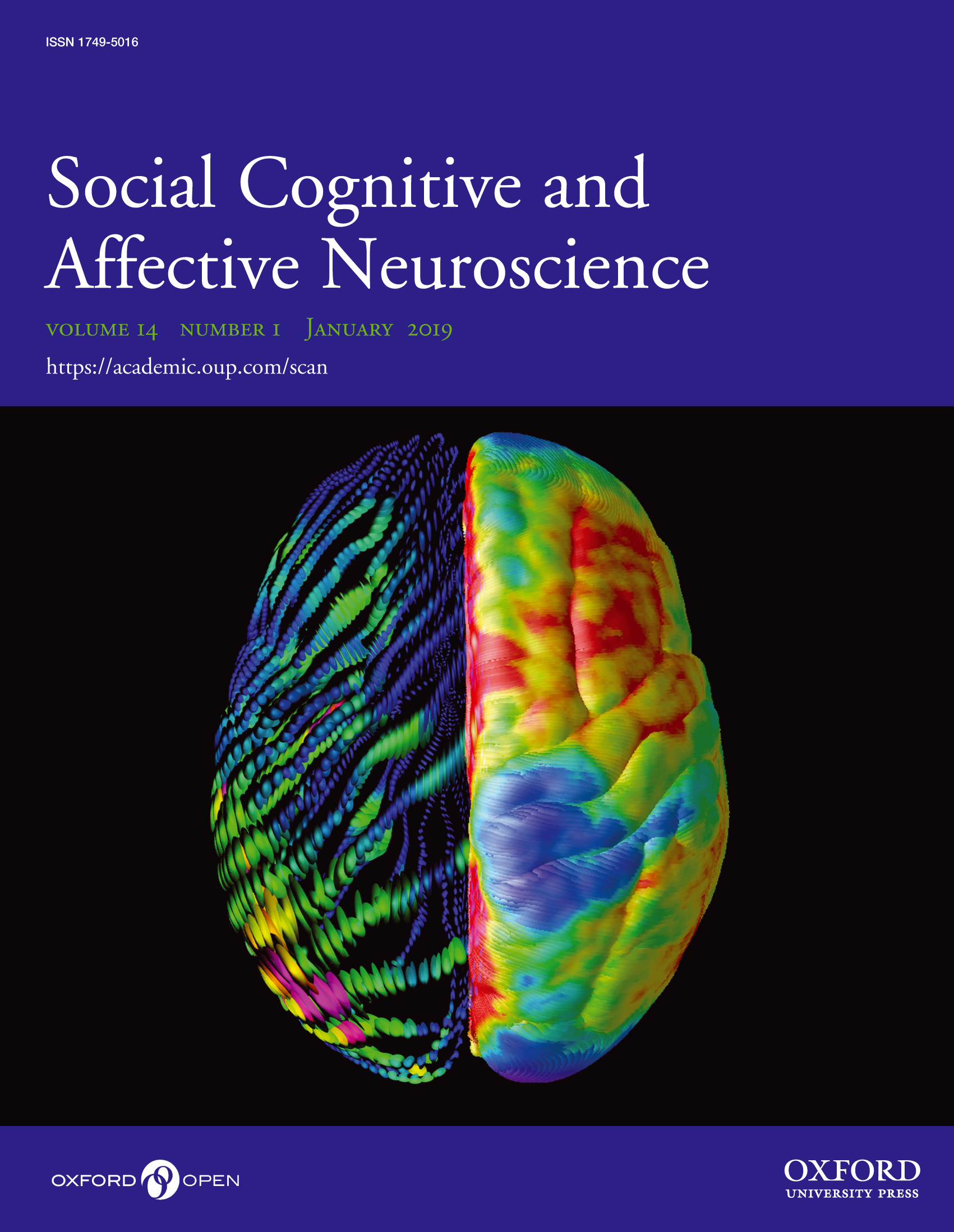Launch of the journal Social Cognitive and Affective Neuroscience