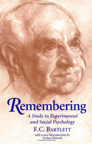 Remembering, by Frederic Bartlett