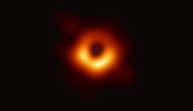 The first image of a black hole is presented to the public